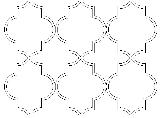 Moroccan marrakech pattern for Moroccan shapes templates