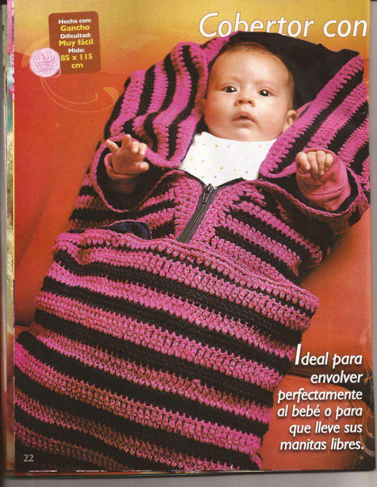 Único Crochet Patrón De La Bolsa Del Bebé Viñeta - Manta de Tejer ...