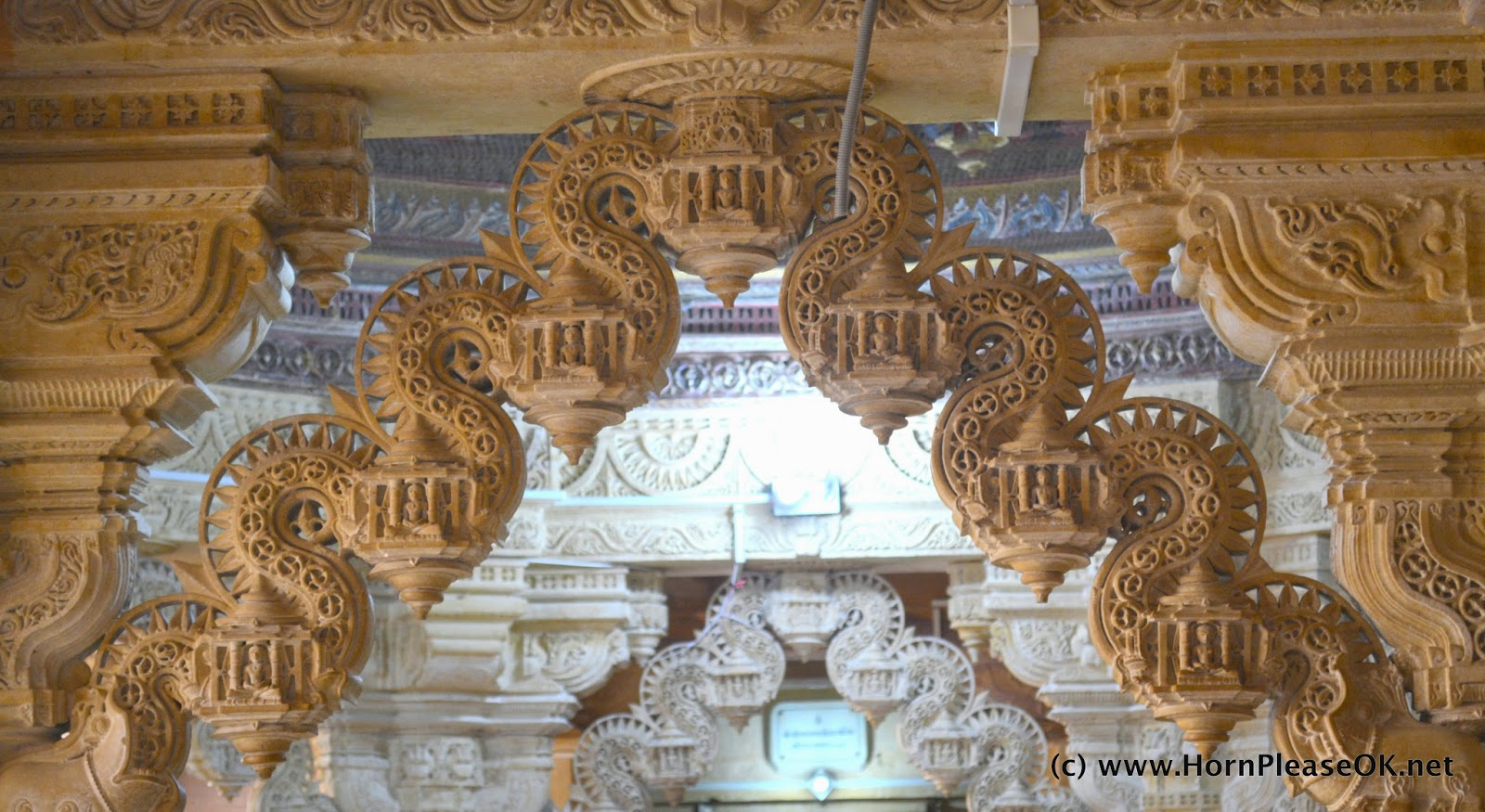 Exquisitely carved torans inside the Jain Temples in Jaisalmer Fort