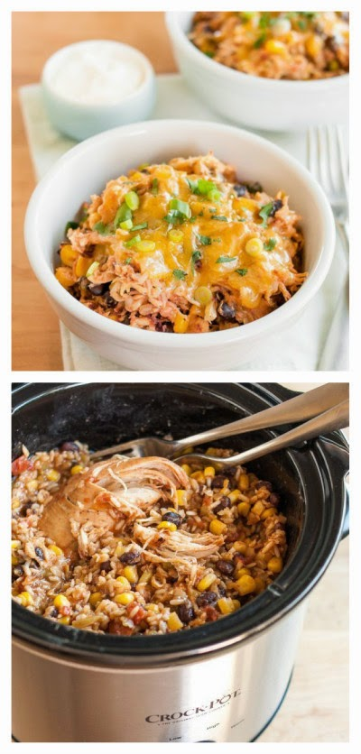 Slow Cooker Chicken And Pinto Bean Burrito Bowl Recipes — Dishmaps