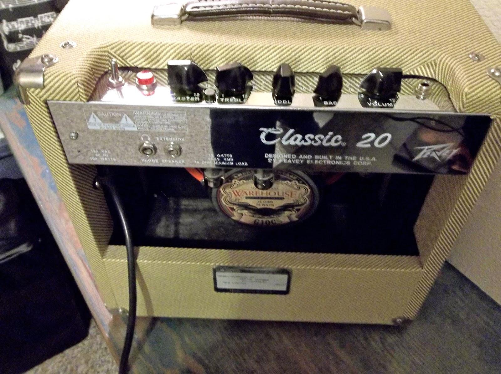 Peavey Classic Cabinet My Blue Strat Peavey Classic 20 For Blues