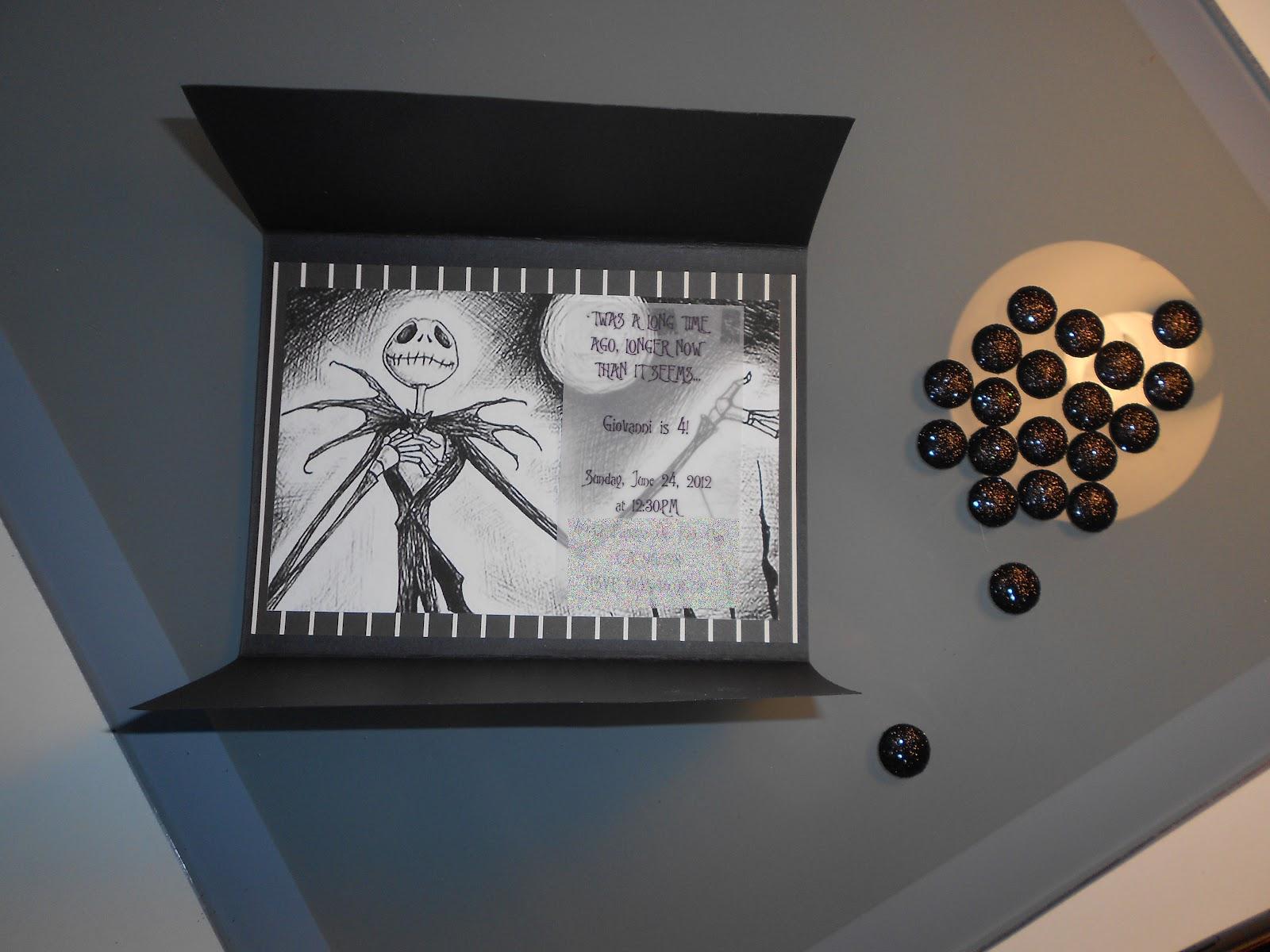 Nightmare Before Christmas Birthday Invitations and get inspiration to create nice invitation ideas