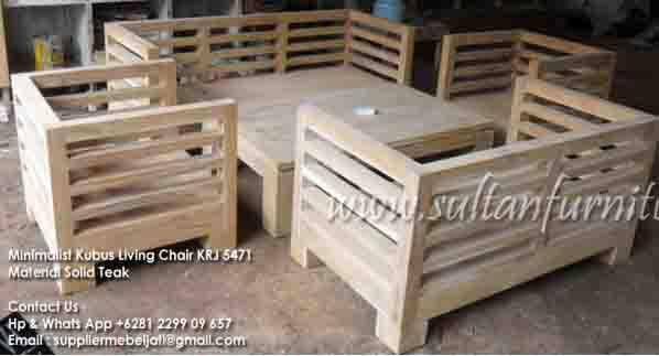 Kursi Minimalis Kubus Mebel Jati Furniture Perabot