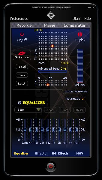 AV Voice Changer Software 7.0 Main Panel