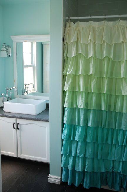 Cortinas para banheiro 25 ideias arte de fazer - Cortinas para plato de ducha ...