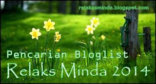 Senarai Bloglist Relaks Minda 2014