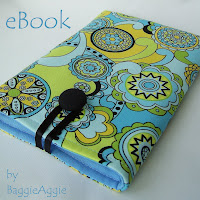 Padded and lined handmade Kindle sleeves by BaggieAggie in Wales, UK.