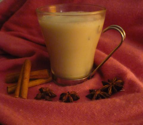 cuill re et saladier lait chaud aux pices 100 cocooning vegan. Black Bedroom Furniture Sets. Home Design Ideas