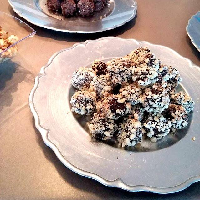Truffes au chocolat noir à l'hummus Sabra