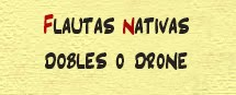 Flautas Nativas Dobles
