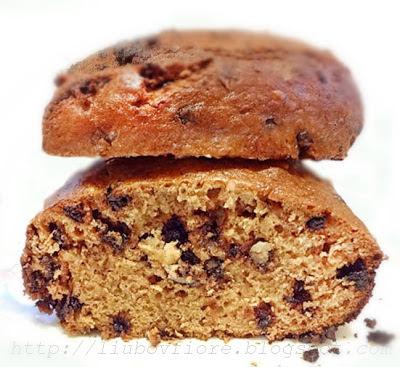 Банановый кекс с шоколадом в хлебопечке.