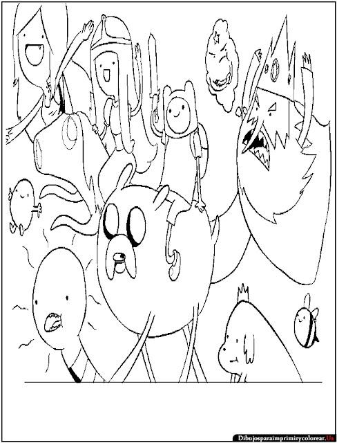 Dibujos de Hora de Aventuras para Imprimir y Colorear