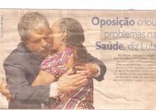 Zefa da Guia em Olinda/PE abraçada com o presidente Lula
