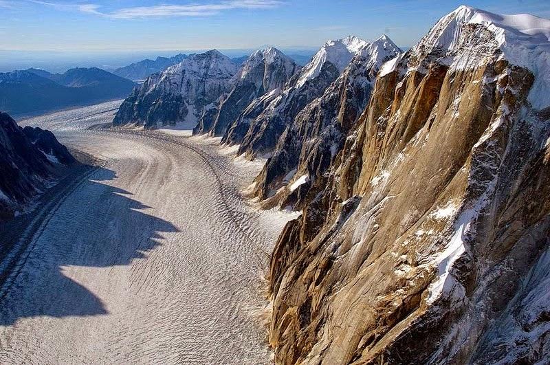 The Ruth Glacier, in Denali National Park
