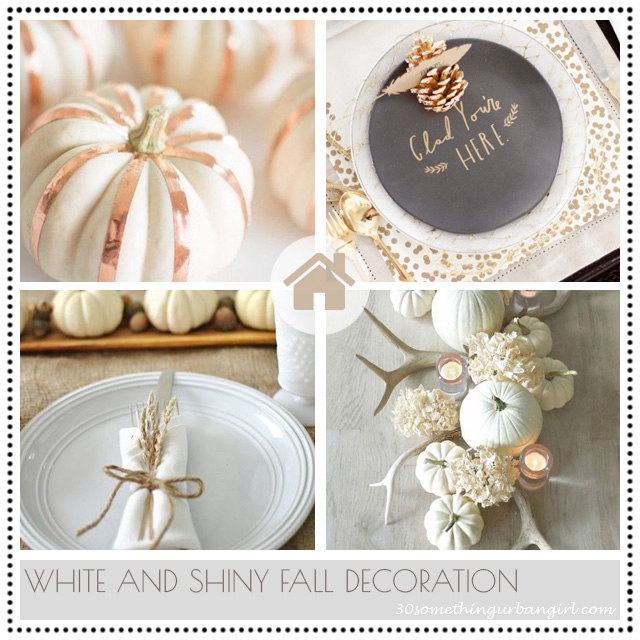 White and shiny fall home and table decoration ideas