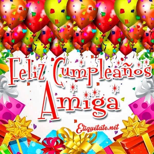 Felicitación de cumpleaños para una amiga