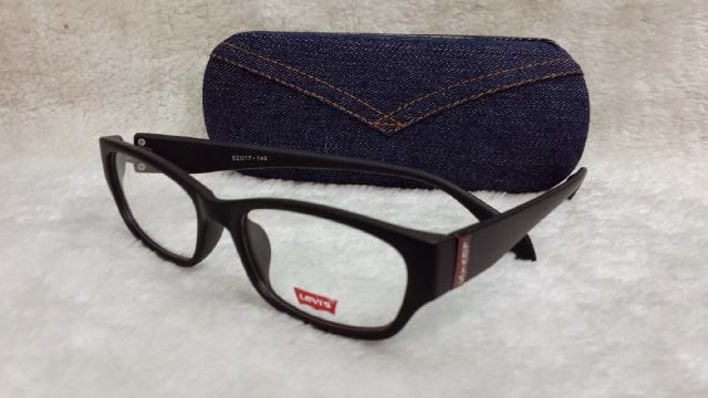 kacamata frame levis 96027 hitam doff