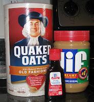 oats, peanut butter, vanilla extract