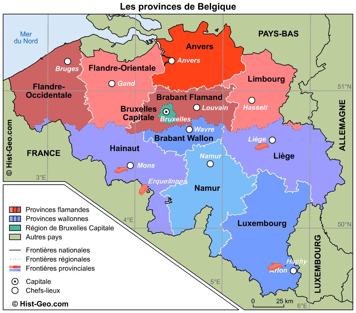 Provinces belge carte - Office du tourisme bruges belgique adresse ...