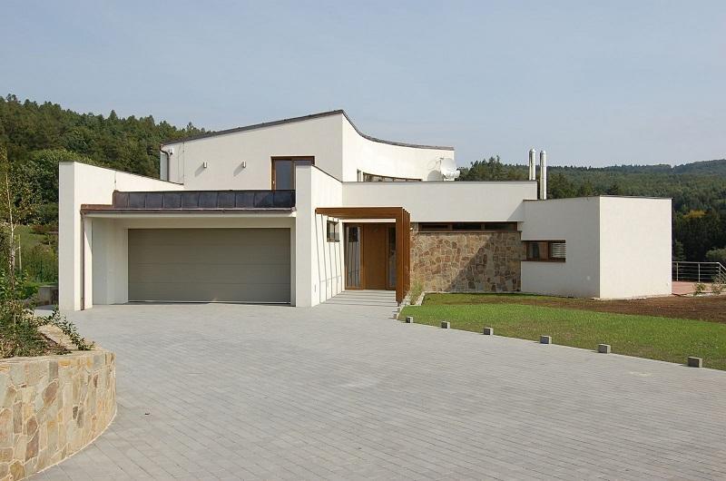 Entradas a casas modernas cheap trendy puertas de madera - Entradas casas modernas ...