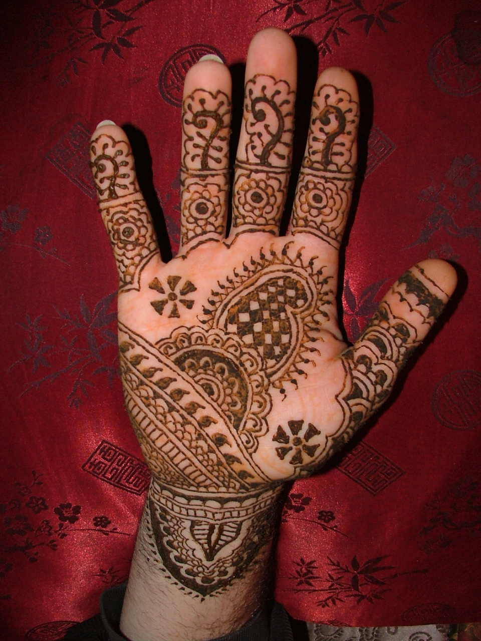 Henna Tattoo For Hands Design