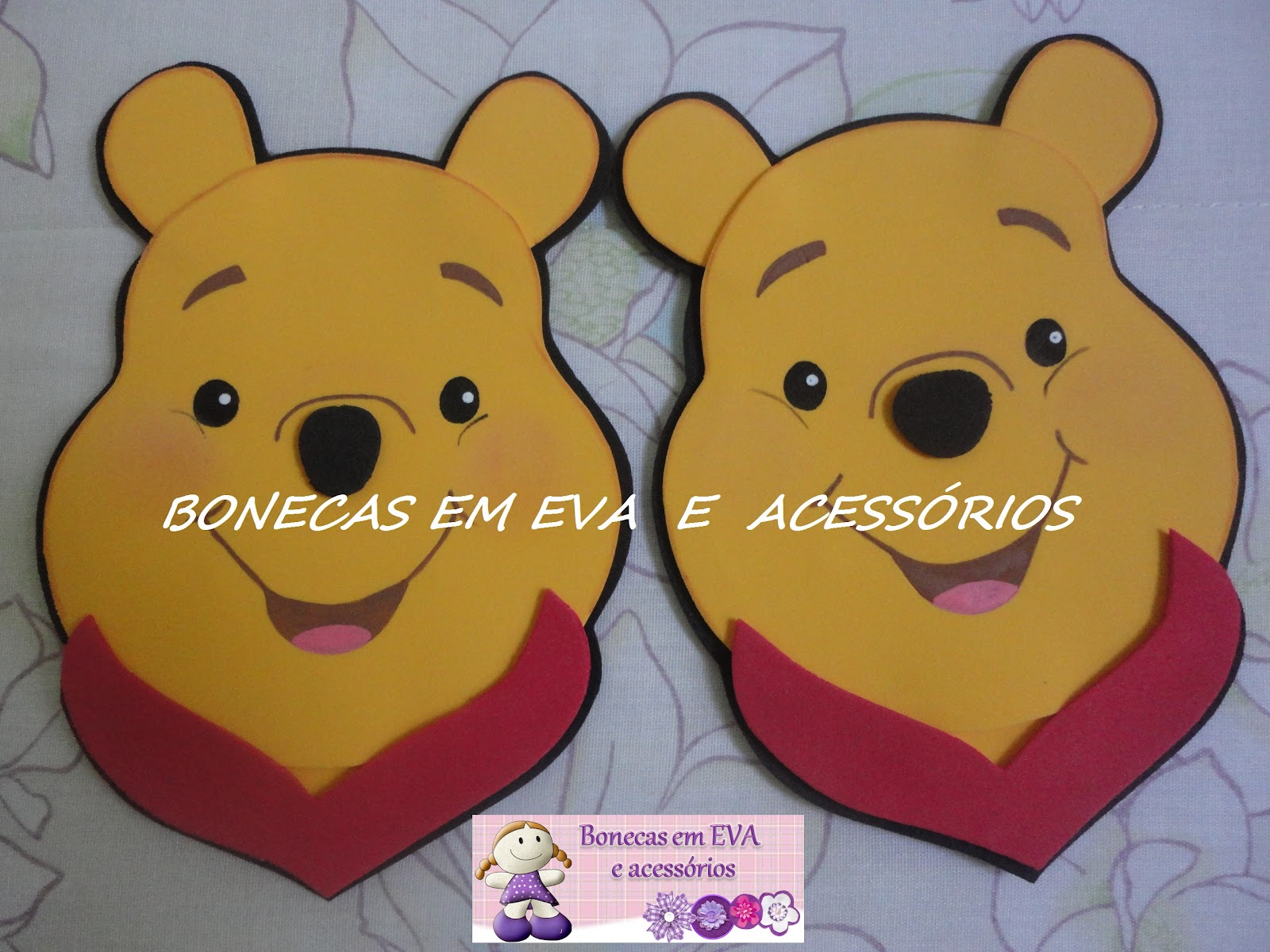 Bonecas em eva e acessorios apliques de rostinhos para - Apliques infantiles de pared ...