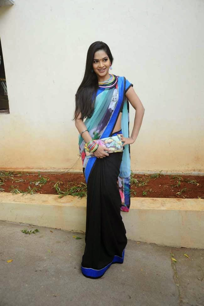 Madhumitha In Half and Half Saree