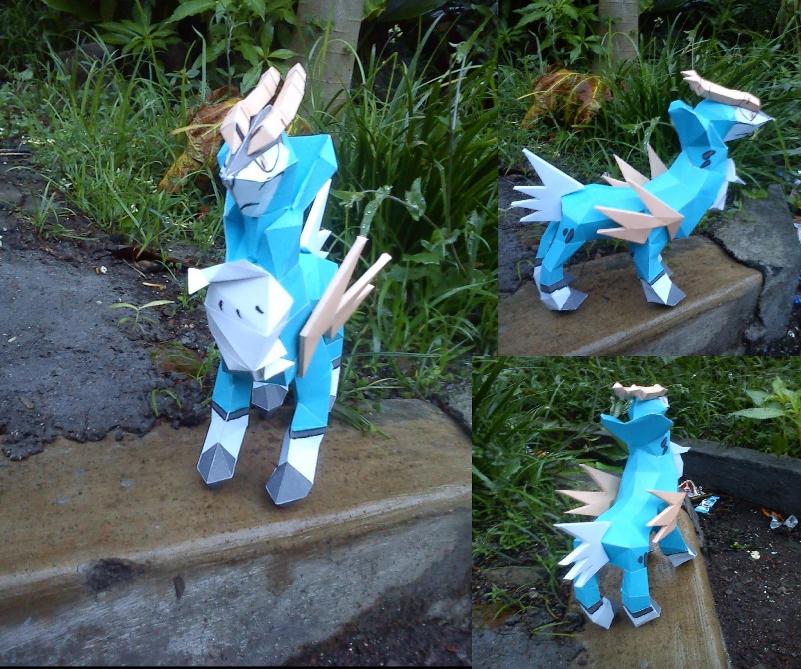 Pokemon Cobalion Papercraft