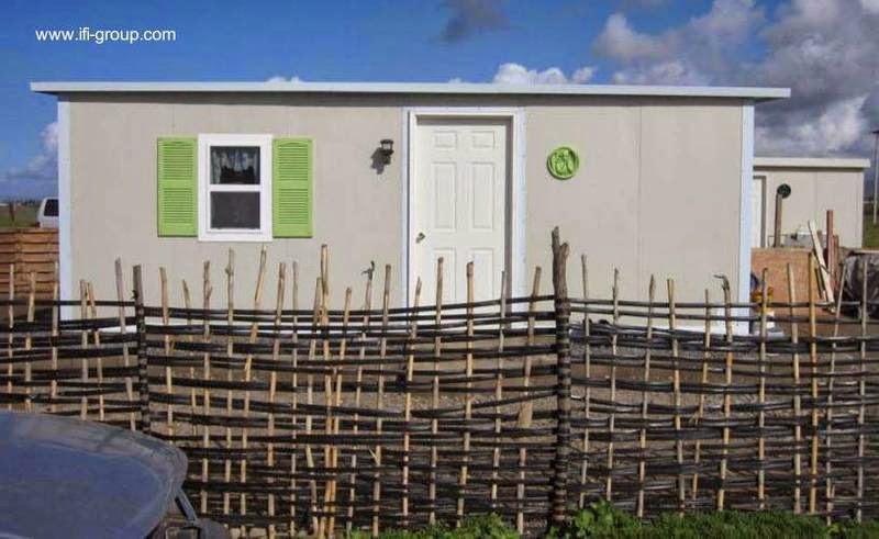Frente de una casa de bajo costo para familia sin recursos en México