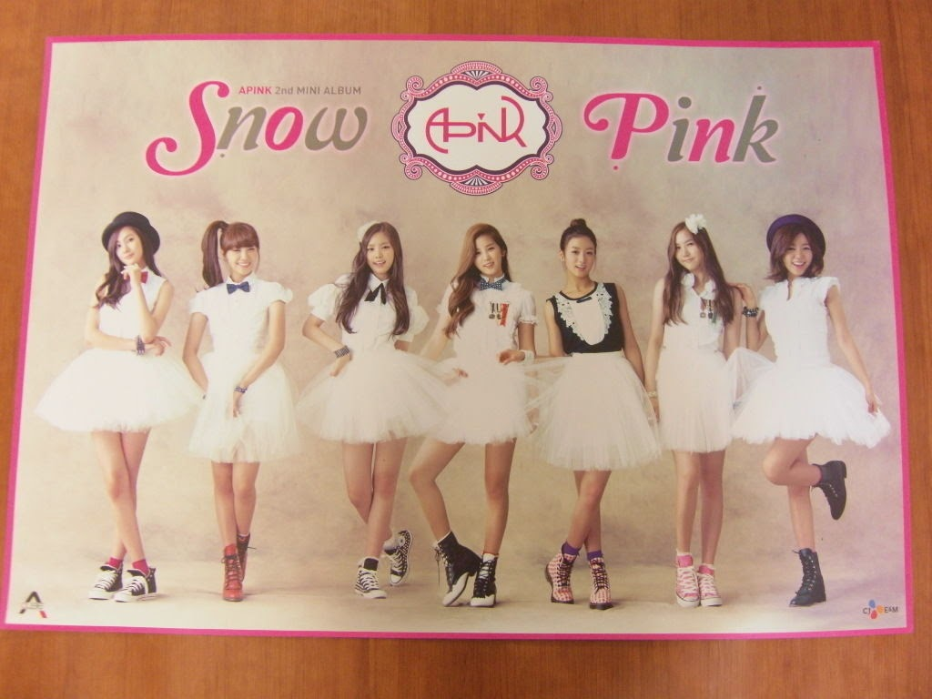 APINK - Snow Pink : 2nd Mini Album [OFFICIAL] POSTER *NEW* K-POP