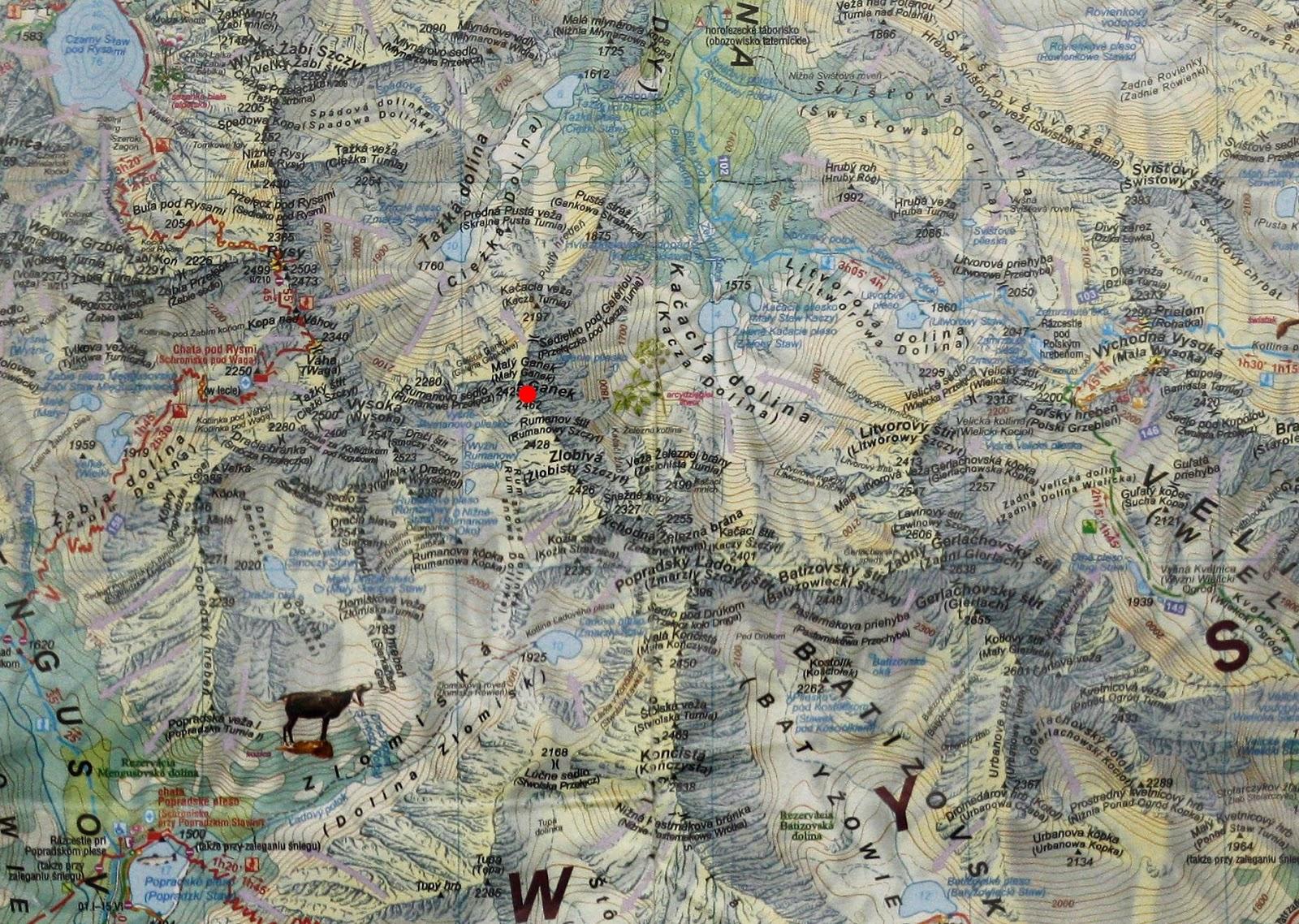 Ganek na mapie