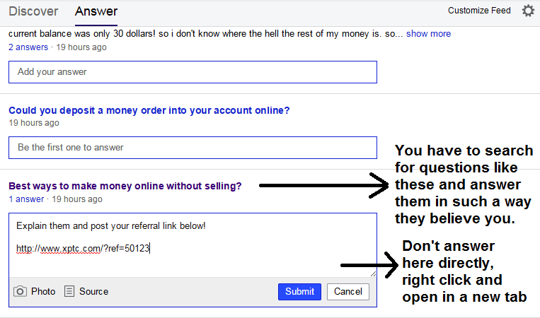 How to answer in yahoo to get more direct referrals?