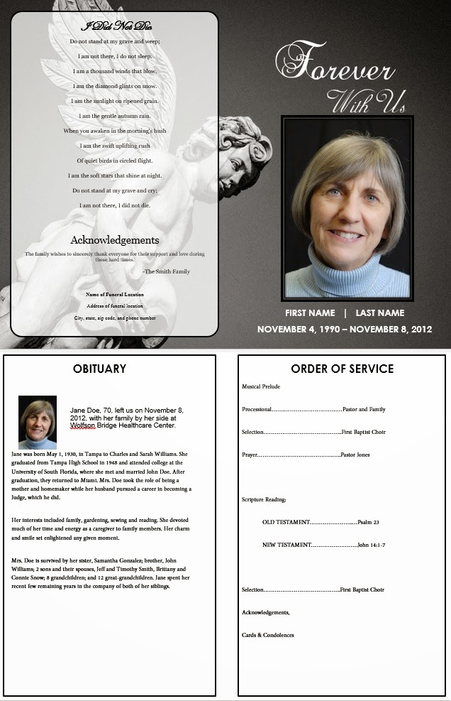 Memorial Service Program  BesikEightyCo