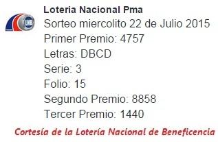 sorteo-miercolito-22-de-julio-2015-loteria-nacional-de-panama