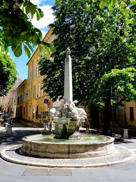 Dolphin fountain, Aix-en-Provence, France