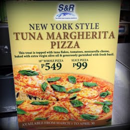 S&R'S TUNA MARGHERITA PIZZA!