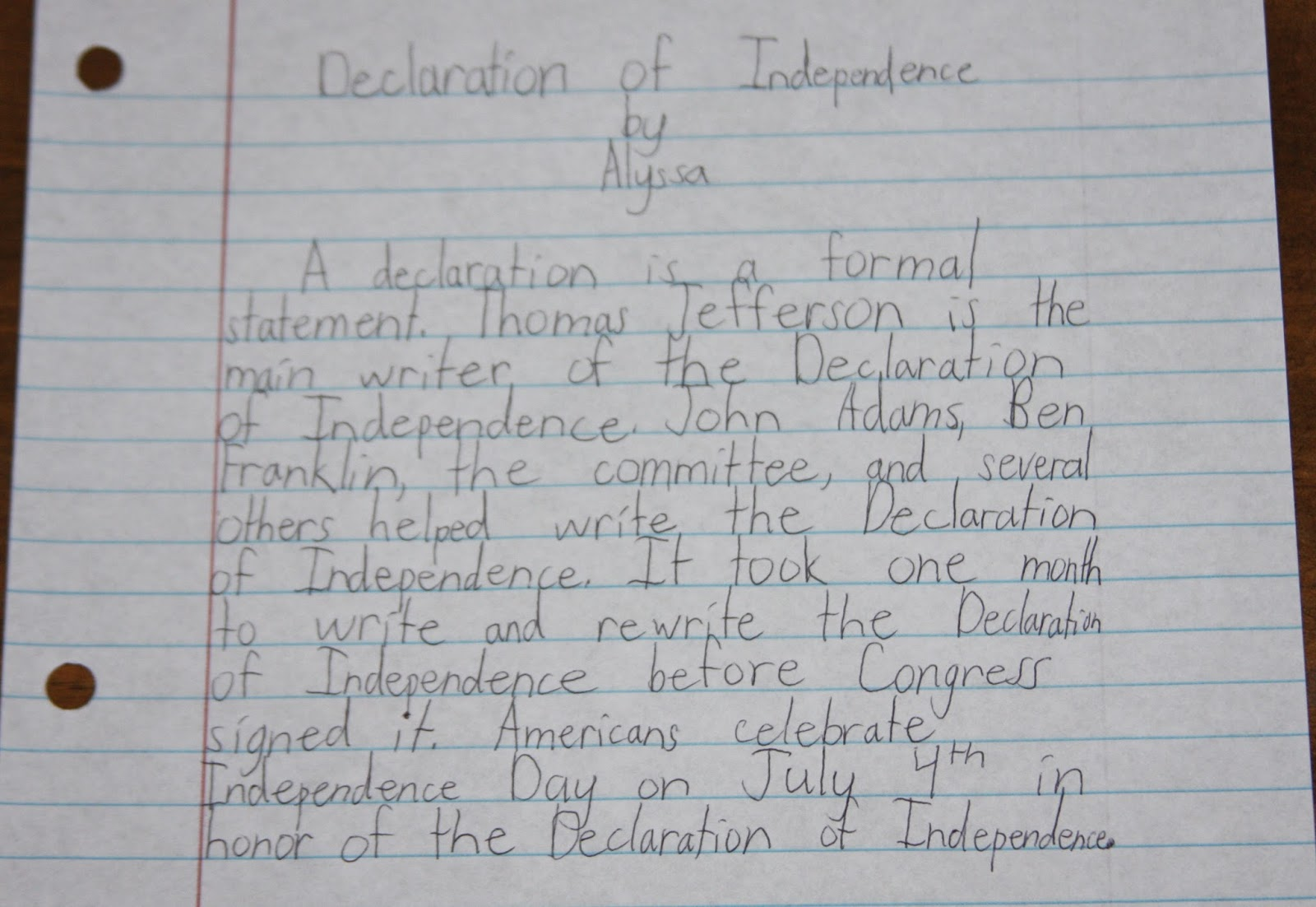 Declaration of Independence from Homework Essay Sample