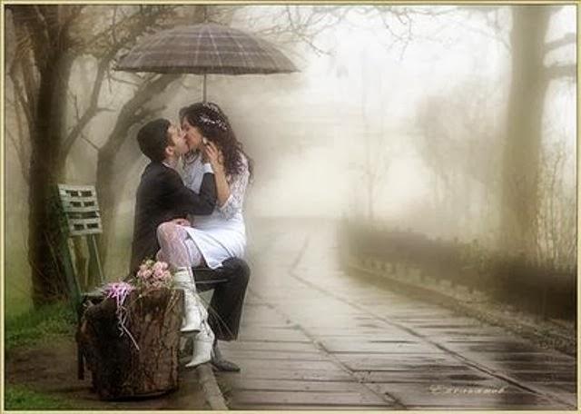 Ảnh kiss nhau dưới mưa