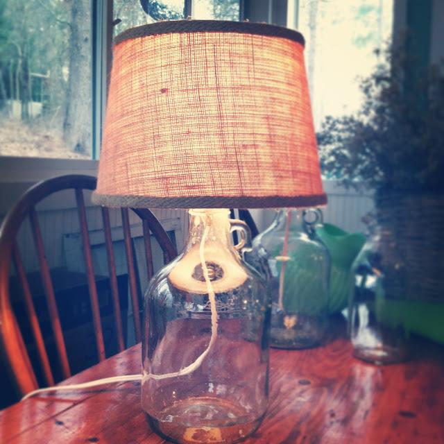 DIY bottle lamp tutorial