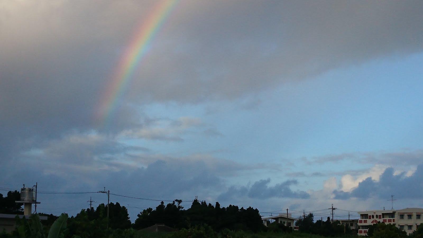 かふぅ村屋上からの虹