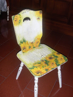 krzesło decoupage vintage