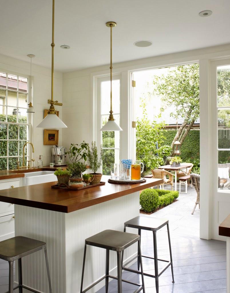 Una cocina abierta al jardin open kitchen desde my for Cocinas para jardin