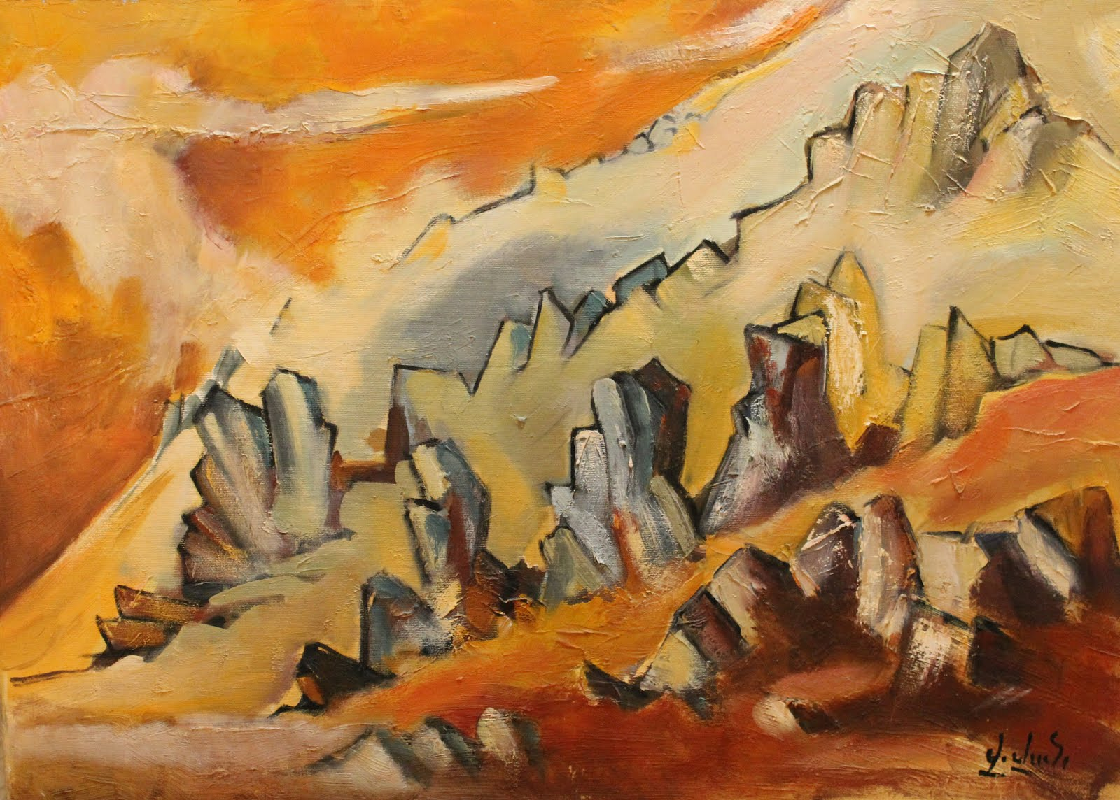 Mount Ara, oil on canvas, 2013, 50x60, 600$
