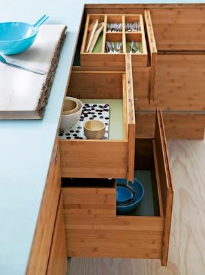 cocina de bambú