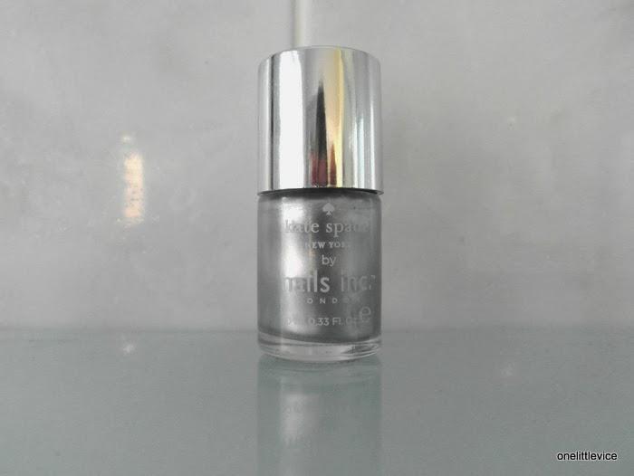 silver christmas nail polish