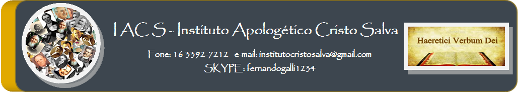 INSTITUTO APOLOGÉTICO CRISTO SALVA