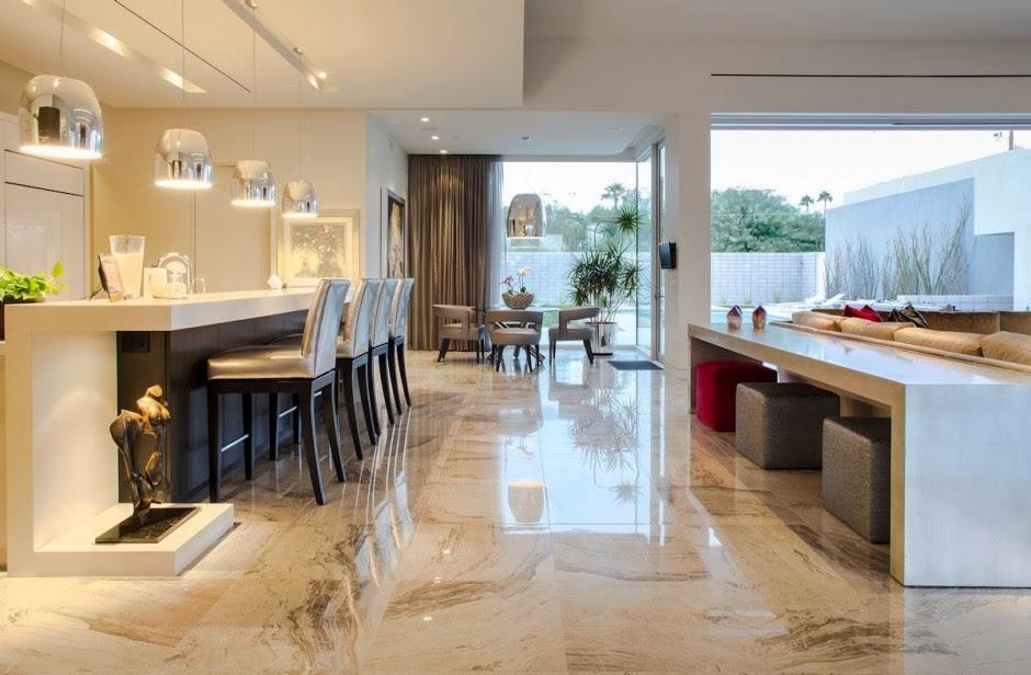 Casa moderna birds nest dise o de brent kendle en for Salon cocina moderno
