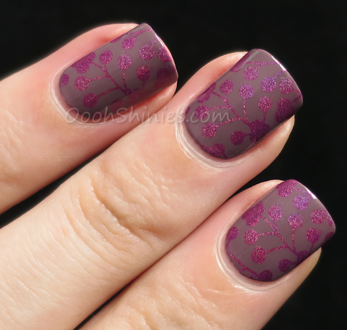 China Glaze Blow Deck with China Glaze QT and DRK XL Designer plate 1