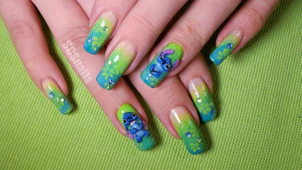 scs nails stitch nail art