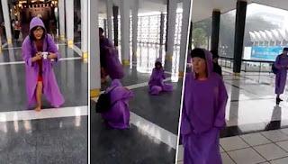 Jubah di Masjid Negara kurang sopan